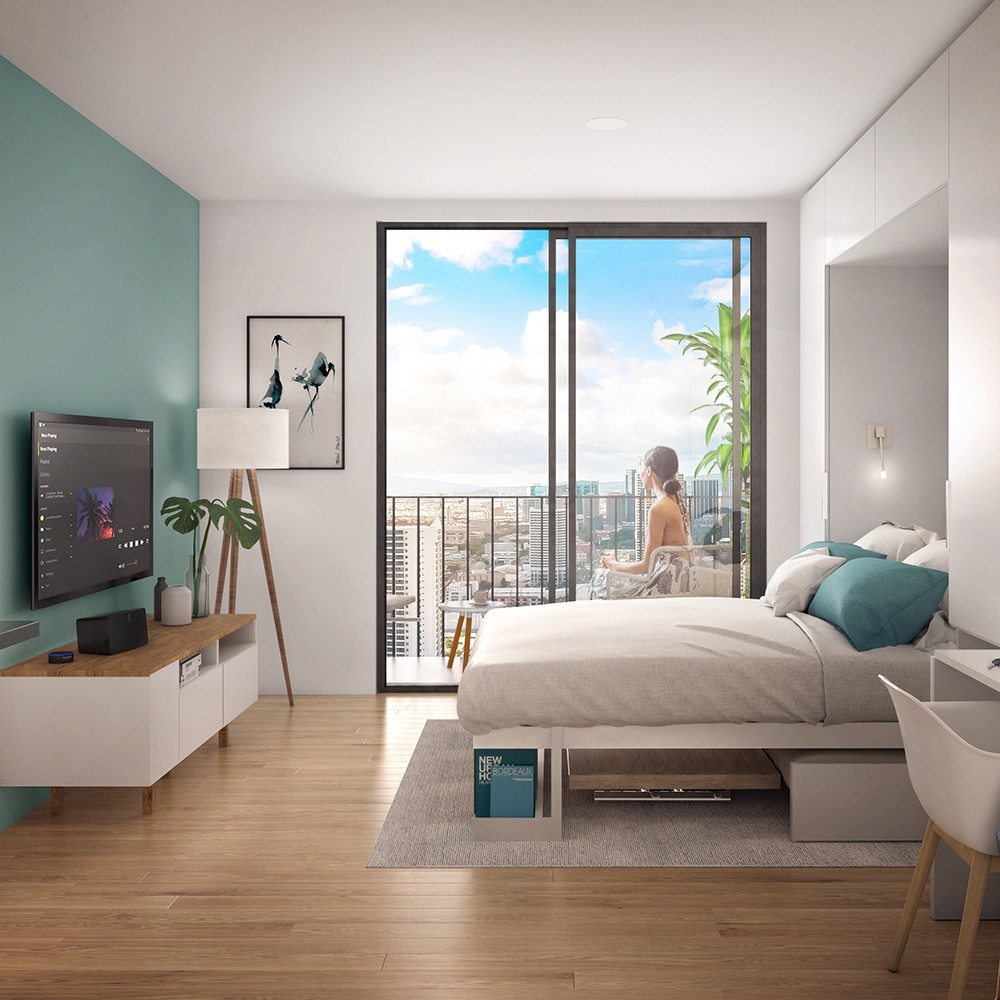 Artist rendering of studio residence at Aalii